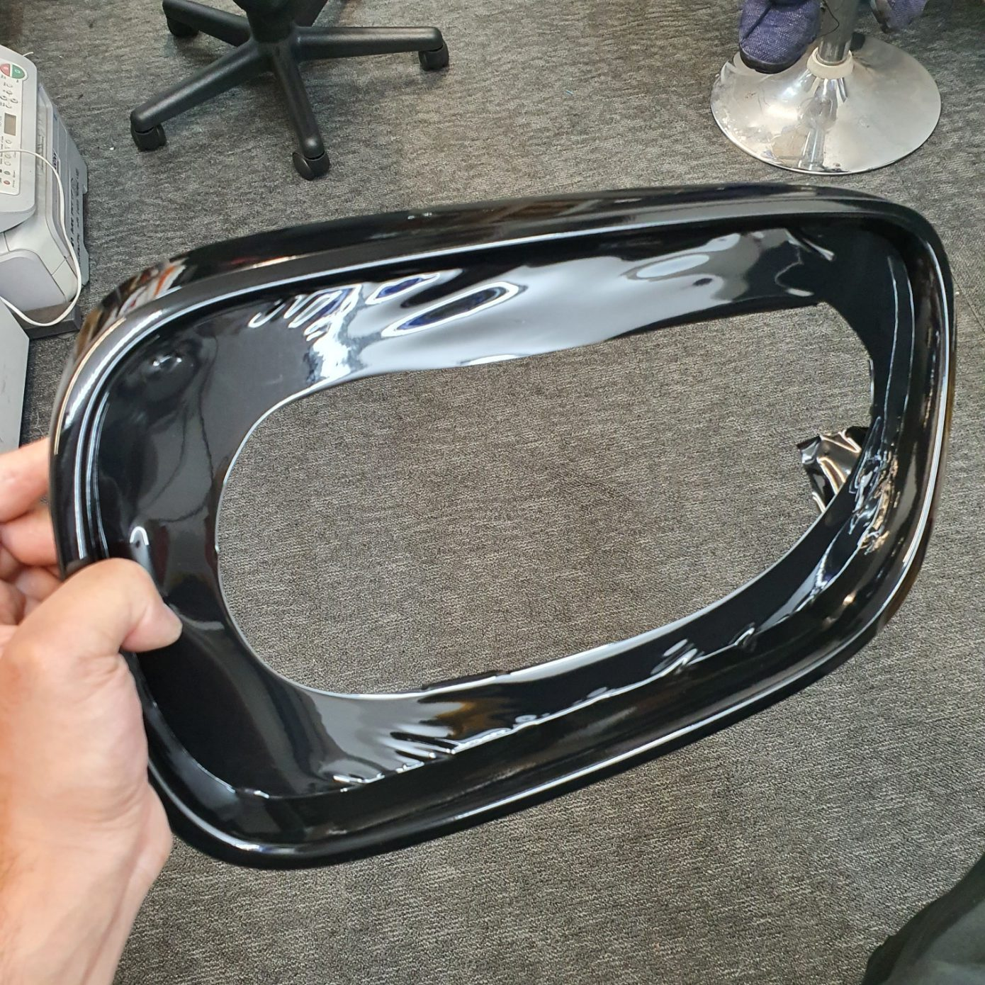 BMW Grill Wrap - before